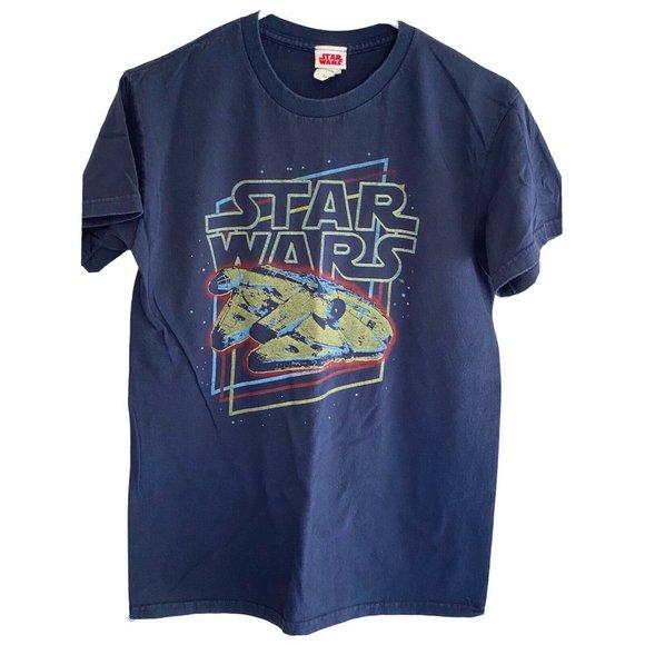 Star Wars Blue T-Shirt Battleship Galactic Size S